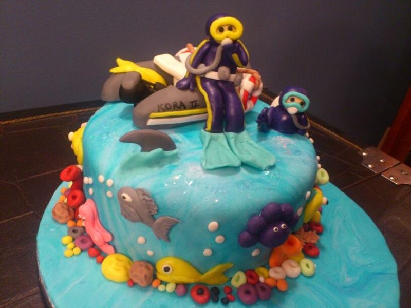 Tarta buceadortartas de fondant personalizadas en cantabria for Decoracion tartas infantiles