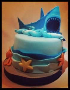 tarta tiburón blanco