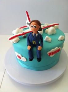 tarta con avión