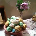 mesa de dulces vintage