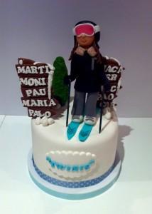 tarta esquiadora