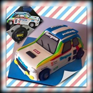 tarta coche de rally