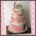 tarta de boda con mariposas