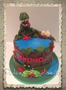 tarta de dinosaurio